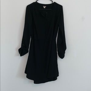 Merona Black 3/4 Sleeve Button Up Dress M